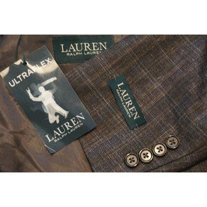 Lauren Ralph Lauren Heather Brown Linen Blend coat